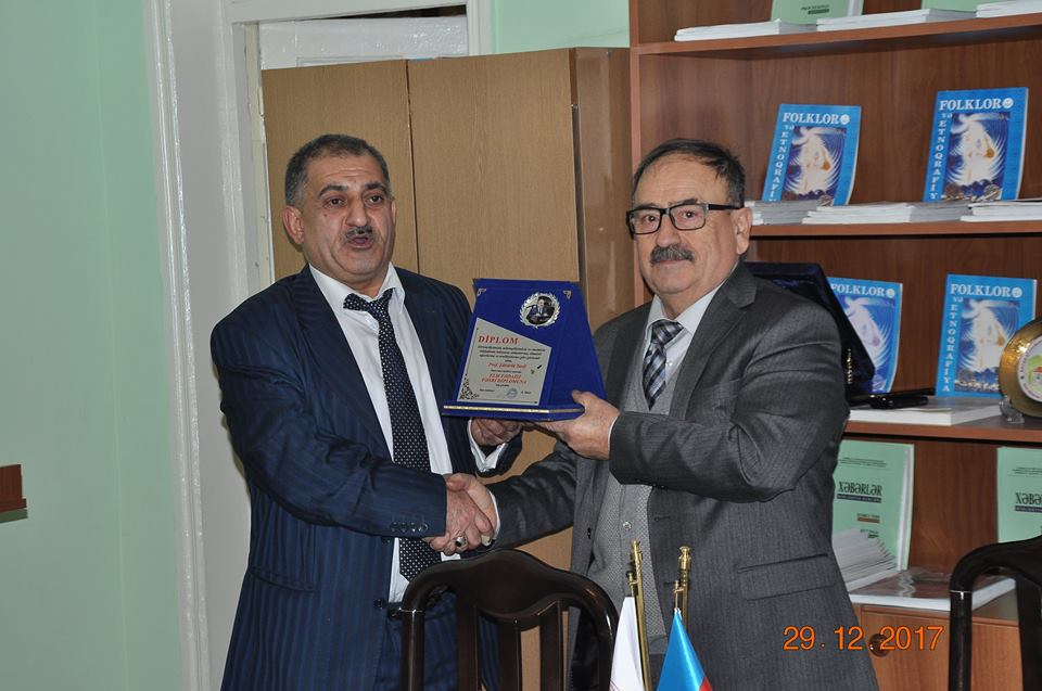 In the date of 29.12.2017 the meeting was held on the occasion of Solidarity Day                                   of World Azerbaijanis and New Year in ANAS SRSC.