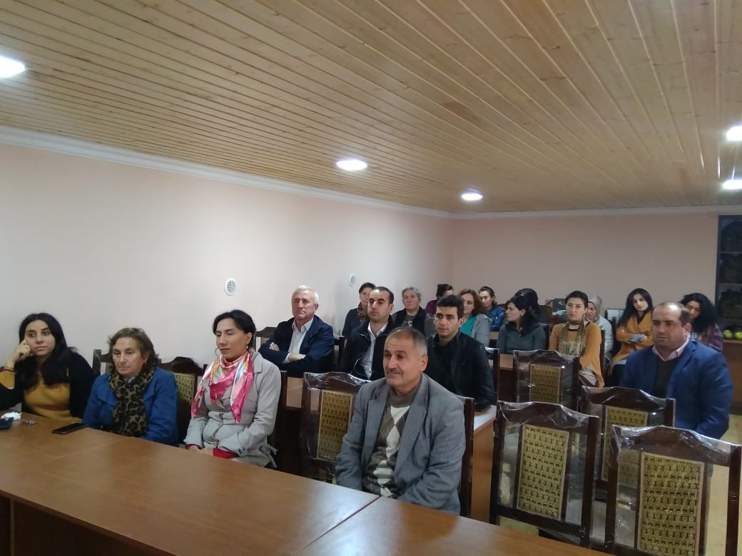 On 16.10.2018 a meeting on civil defense was held in the Sheki Regional Scientific Center of ANAS