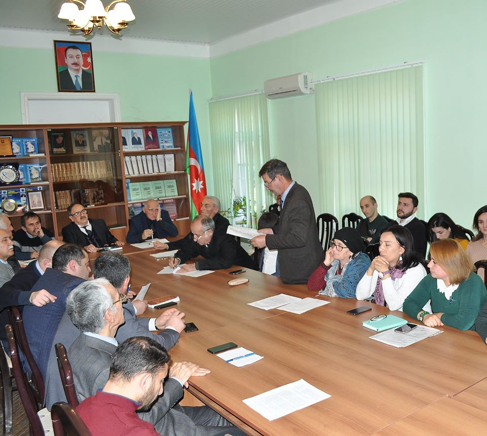 The next meeting of Scientific Council of ANAS SRSC was held on December 20, 2019