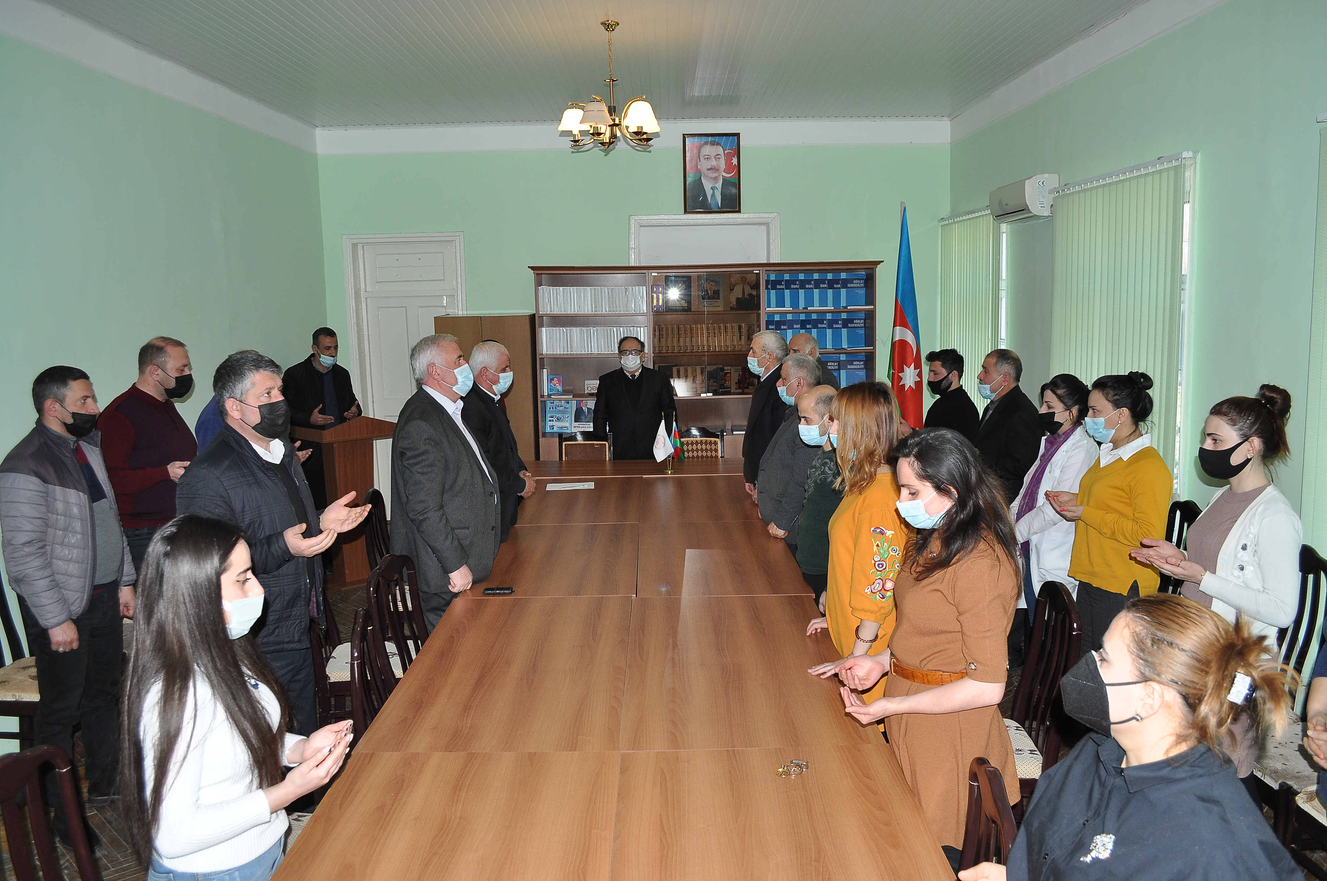 On February 26, 2021 a commemorative ceremony on the 29th anniversary of the Khojaly tragedy was held in Sheki RSC of ANAS
