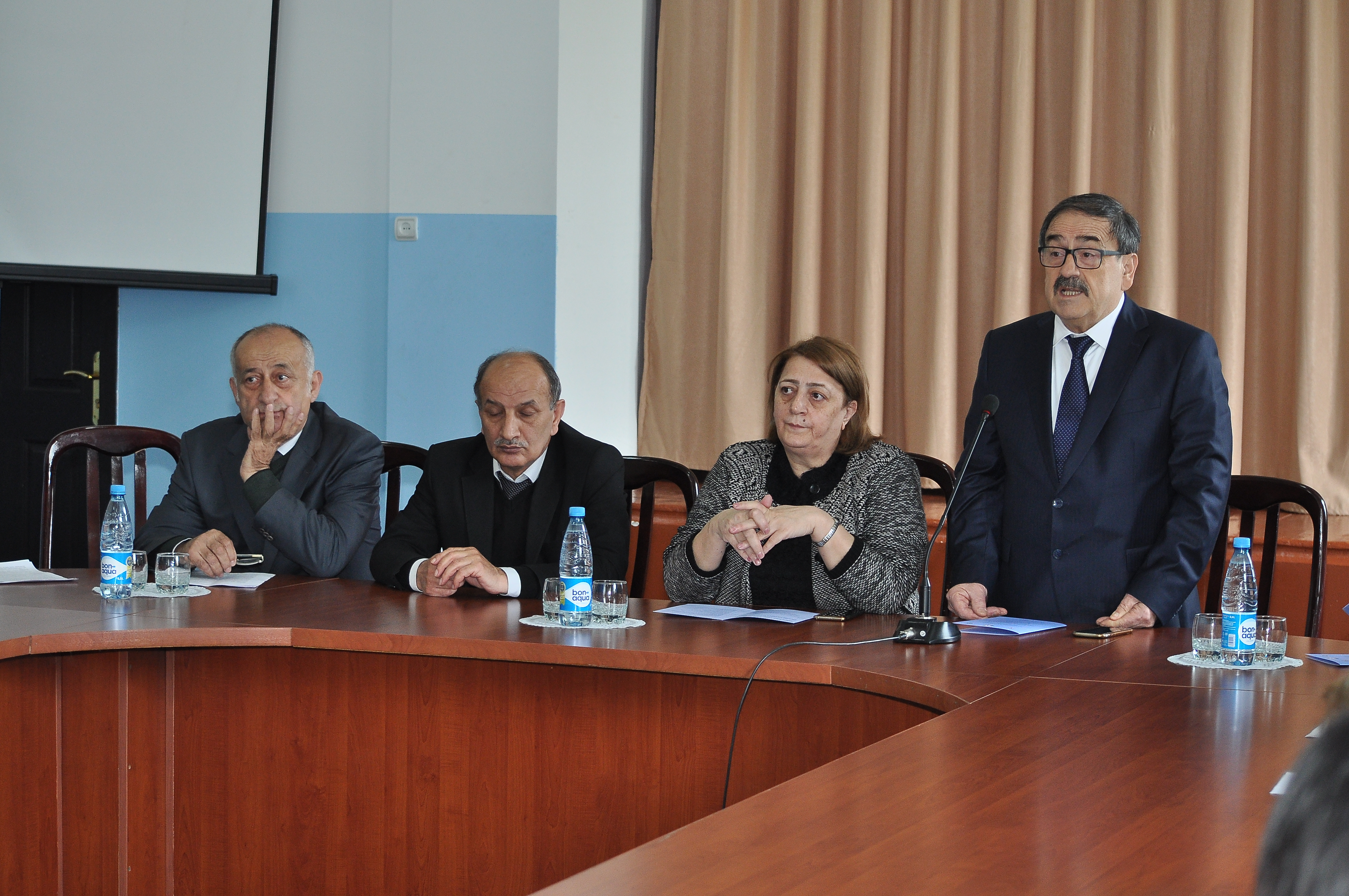 """The scientific-theoretical conference on """"History of honor and dignity of the Azerbaijan Democratic Republic"""" dedicated to the 100th anniversary of the establishment of the Azerbaijan Democratic Republic was held on 30.04.2018 jointly organized by Sheki Regional Executive Center of Azerbaijan National Academy of Sciences and Sheki City Executive Power"""