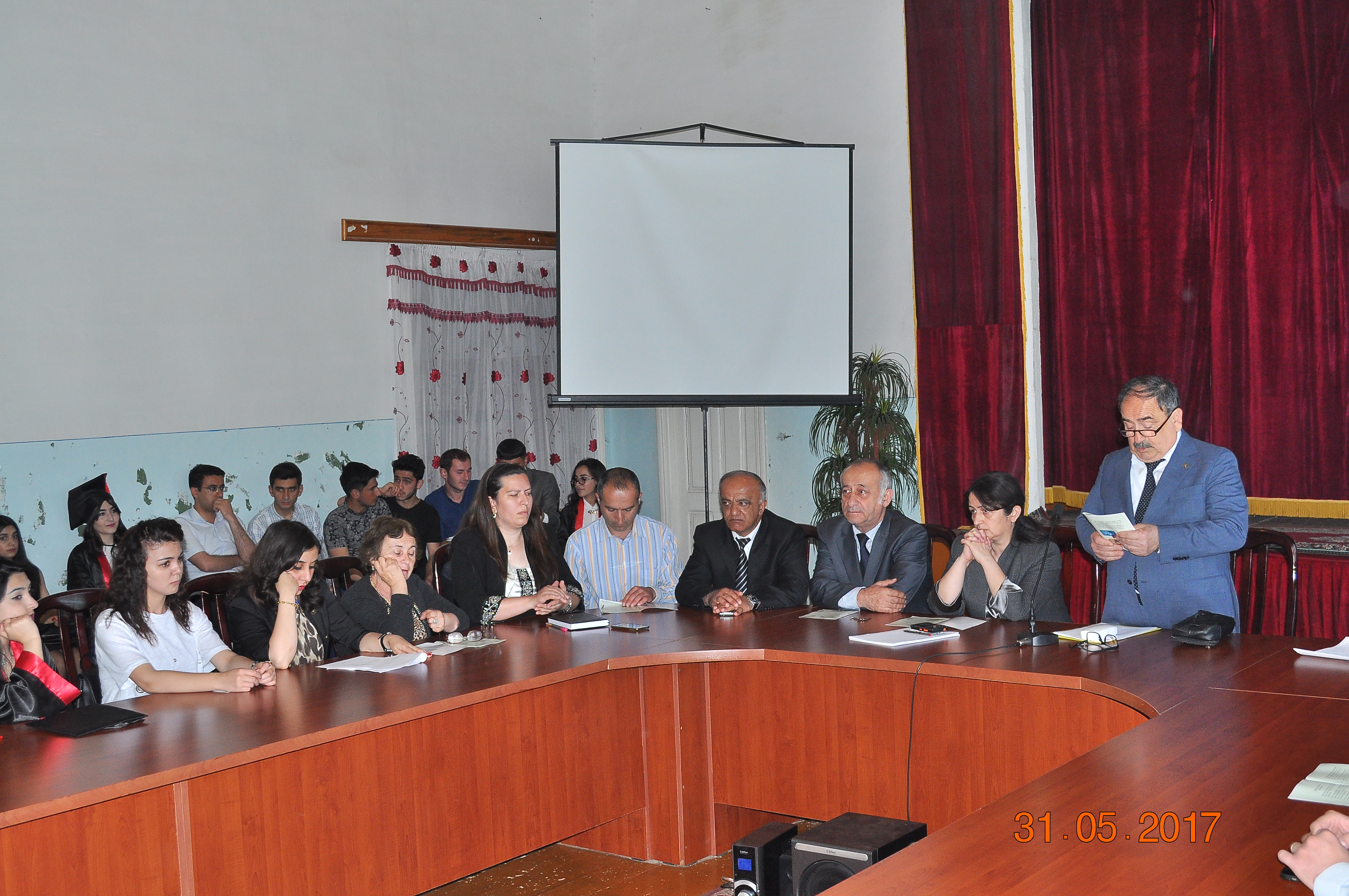 Meeting of the doctorates of ANAS SRSC with the students in Sheki brunch of ASPU