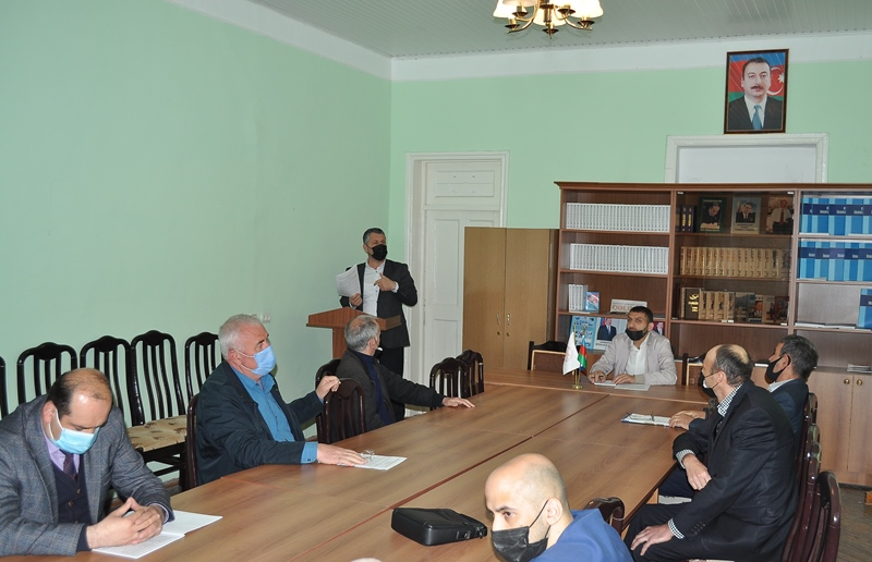 On May 6, 2021, a scientific seminar was held at the Sheki REM of ANAS