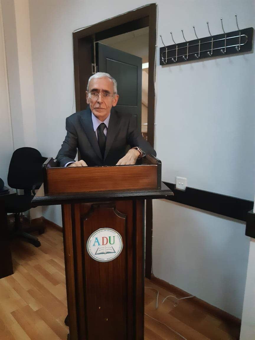 """The employee of Sheki Regional Scientific Center performed successfully with his scientific article named """"Folklore elements in Nesimi creature"""" in republic scientific conference that held in Azerbaijan University of Languages dedicated to Imadeddin Nasimi's 650th anniversary."""