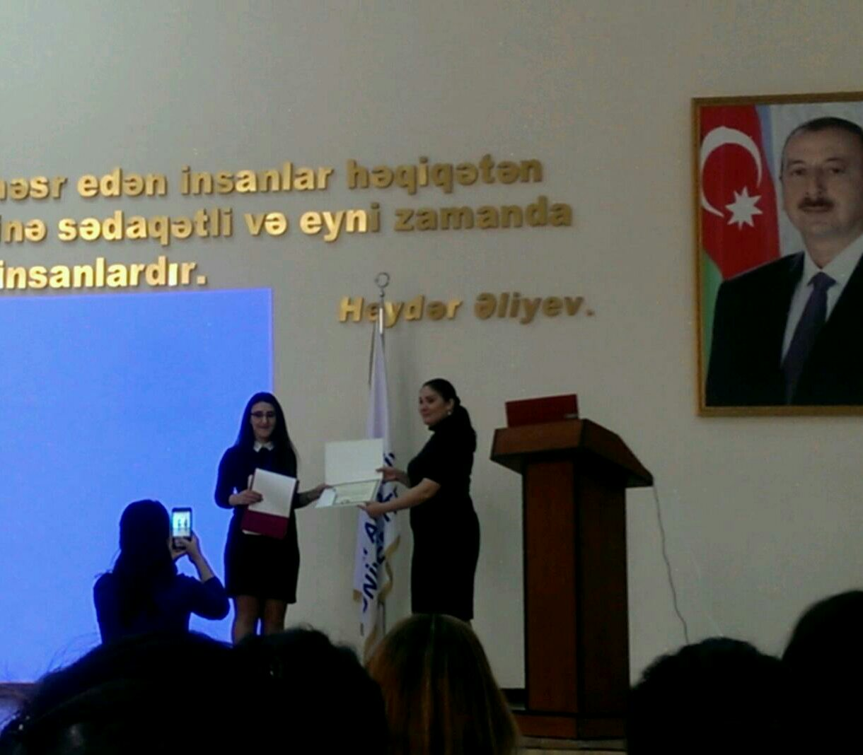 """Tarana Mammadova, a junior scientific worker of ANAS, participated in the Republican symposium """"From the perspective of youth to Turkey""""."""